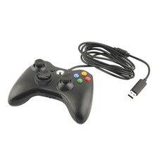 Gamepad usb wired controller joypad para microsoft para xbox slim 360 para pc de windows $ number controlador de juegos joystick de color negro