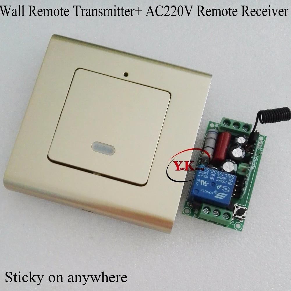 4-Wege AC220V Home LED Licht Digital Receiver Transmitter Fernbedienung Schalter