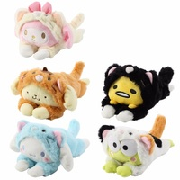 candice-guo-plush-toy-stuffed-doll-cartoon-animal-gudetama-egg-melody-cinnamoroll-pom-pom-purin-dog-frog-change-dress-to-cat-1pc