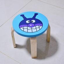Детские стульчики Массив дерева круглый стул детская мебель 37*37*23 см горячая новинка модный качественный детский из шелковой ткани