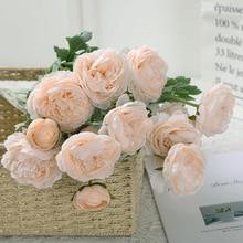 Klonca High-grade Natural Silk Flower  52cm 2pcs/lot Peony Fake Artificial for Wedding Party Home Decoration
