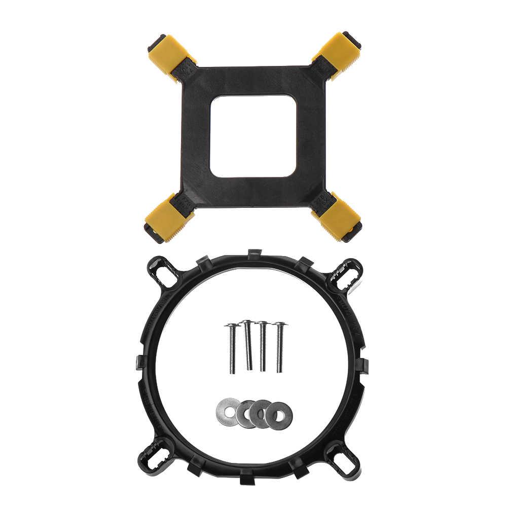 1 комплект cpu кулер Монтажный кронштейн вентиляторы для ПК держатель радиатора база настольная материнская плата Крепление вентилятора компонент для 1150 1156 1155