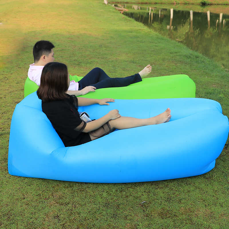 Outdoor portable air Beach Chair Fast Inflatable Camping Sofa Sleeping Lazy Bag Chaise Lounge Air Sofa Bed Lounger chair
