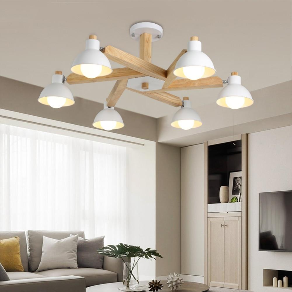 Modern Wood Robot Table Lamps For Living Room Bedside Bedroom Switch Diy Wiring Lampu Rumah Nordic Desain Led Hitam Putih Gantung Kayu Pencahayaan Untuk Indoor Ruang Tamu Kamar