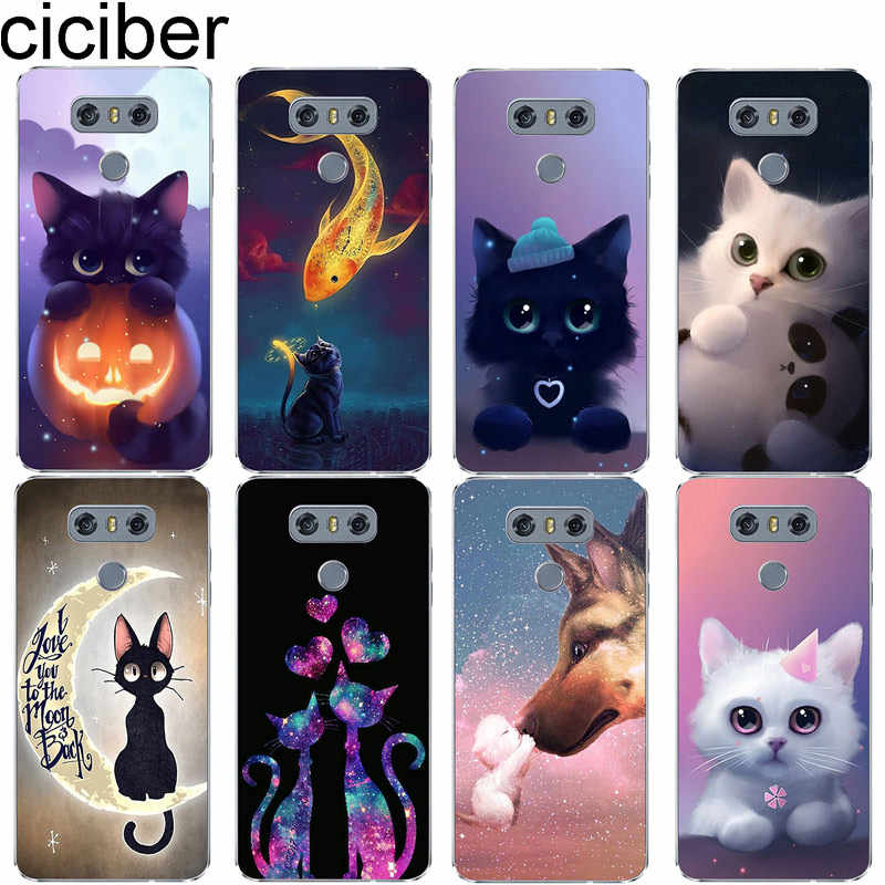 ciciber Animal Cat For LG G7 G6 G5 G4 V40 V35 V30 V20 THINQ Soft TPU Phone Cases Cover For LG K8 K10 K4 K7 2017 2018 K9 K11+