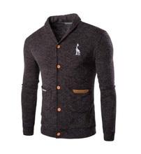 Strickjacken Männer Pullover Neue 2016 Strickwaren Breasted Strickjacke Top Qualität Marke Kleidung Mode Männlichen Weihnachten Mantel