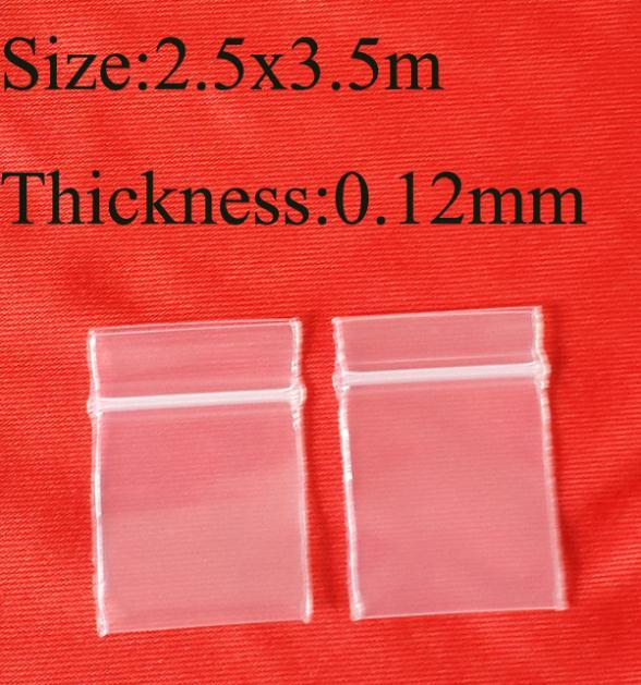 2.5x3.5cm 1''x1.4'',1000pcs/Lot Clear mini PE Plastic bag gift small plastic packing bag