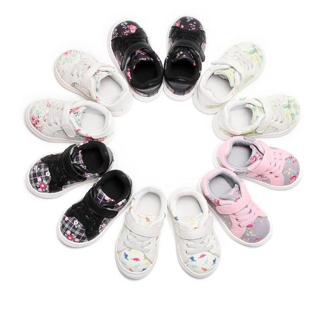 HONGTEYA 2018 Cute Girls Baby Shoes Soft Comfortable Leather Flower Kids Sneakers Toddler Girls Newborn Shoes Baby First Walker