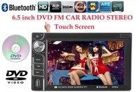 Автомобильный DVD MP4 игрока 2 DIN 6.5 дюймов Bluetooth для камера заднего вида touch Экран автомобиля видео плеер 7 языков RDS /FM/AM/USB/SD