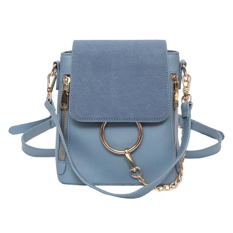 2019 Europe Fashion Brand Designer Women Backapck Scrub PU Leather Women Bags Mini Shoulder Bag Ladies Backpacks S130