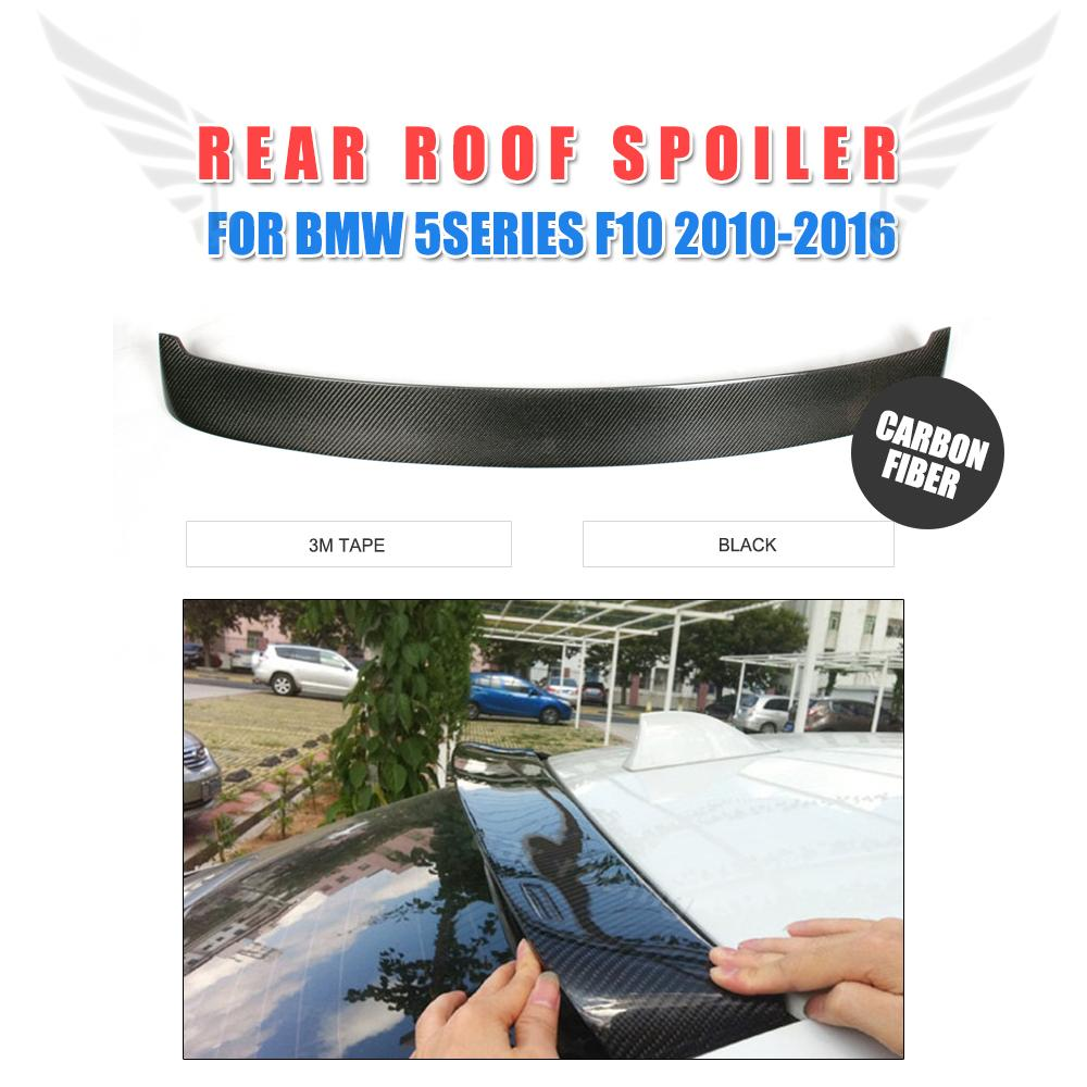 Carbon Fiber Auto Rear Roof Spoiler Window Wing Lip For BMW 5 Series F10 2010 - 2016 HM style Car Tuning PartsCarbon Fiber Auto Rear Roof Spoiler Window Wing Lip For BMW 5 Series F10 2010 - 2016 HM style Car Tuning Parts
