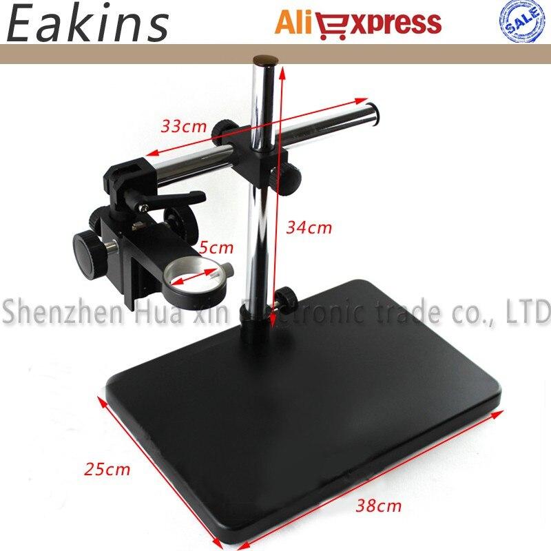 Único Braço Rotativo Stand Boom Ajustável Grande Stereo50mm Anel Titular Para O Laboratório Da Indústria Microscope Camera