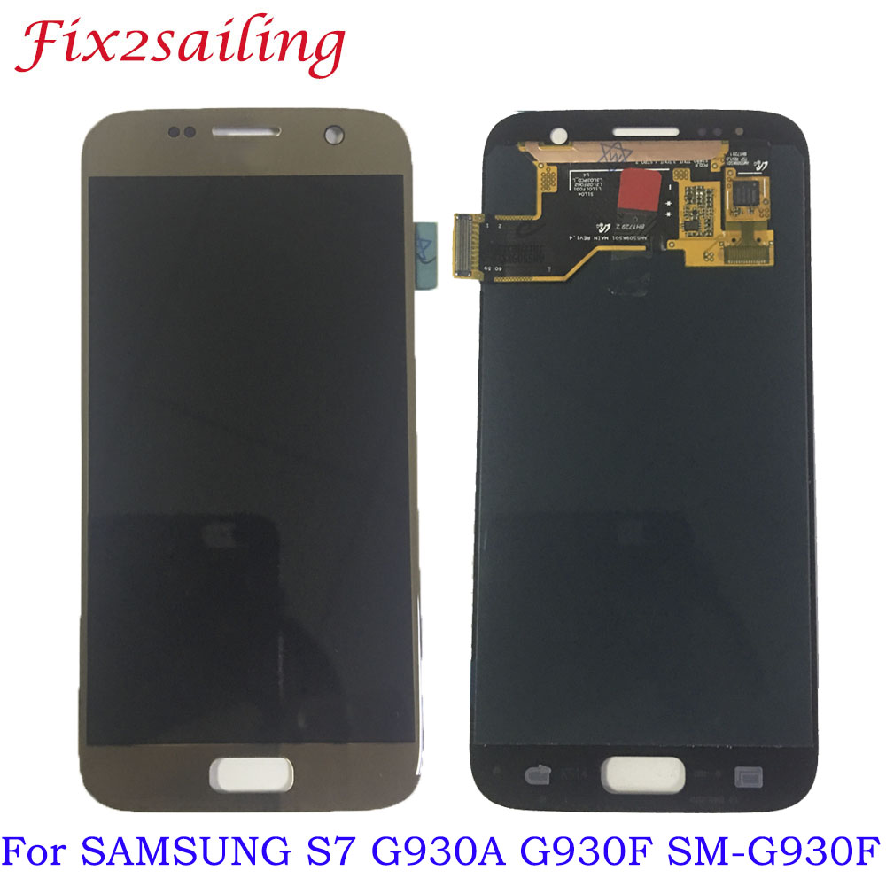 Super AMOLED New LCD For <font><b>SAMSUNG</b></font> <font><b>GALAXY</b></font> <font><b>S7</b></font> G930A G930F SM-G930F LCD <font><b>Display</b></font> Touch Screen Digitizer <font><b>Assembly</b></font> Replacement Parts image