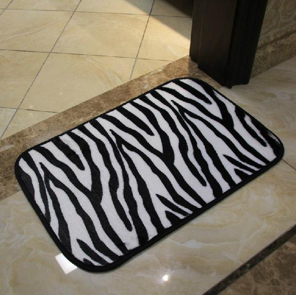 Carpet Modern Brief Fashion Zebra And Leopard Print Bathroom Bath Mat Slip Resistant Mats 40 60cm In From Home Garden On Aliexpress Alibaba