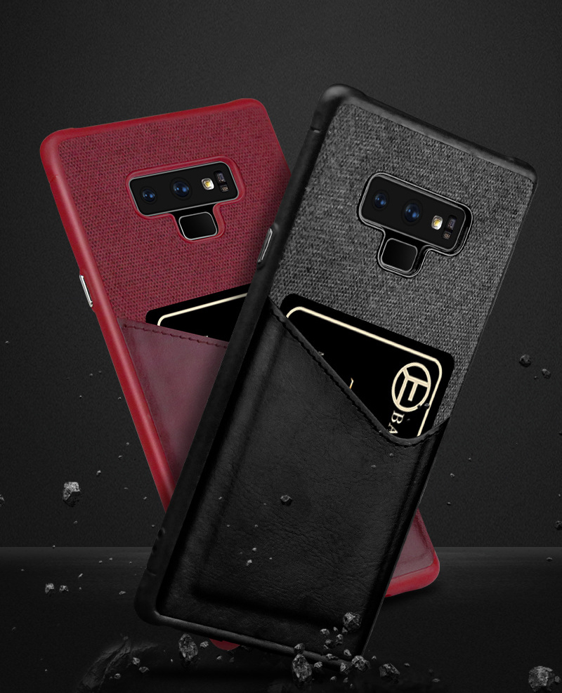 Luxury Business Cloth+leather Wallet Case for samsung note 9 8 with Card Pocket Cover for samsung galaxy S8 S9 Plus case Coque   (6)