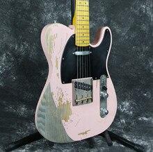 Korean factory professional Handmade Relic 1960 FD TL electric guitar brass bridge ASH body aged hardware nitrolacquer finish