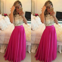 2015 Custom Made A Line Elegant Evening Dresses With Pearls Crystals Vestidos De Fiesta IZ452