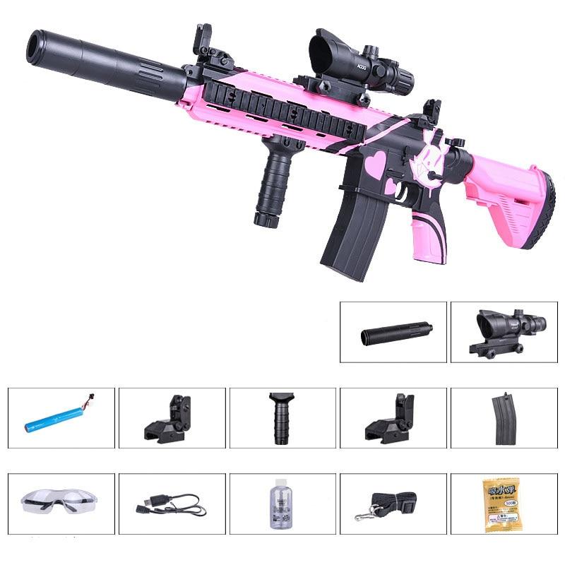 Zhenduo jouet M416 main de jouet lectric pistolet à eau Gel balle pour enfants passe-temps en plein air - 2