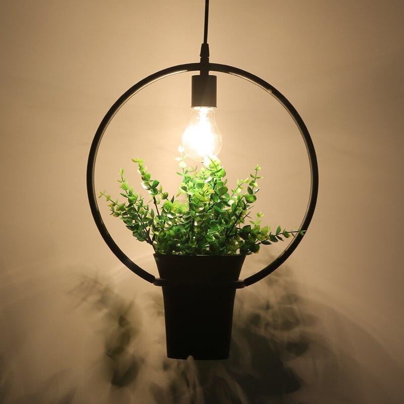 Plant pendant light Nordic creative personality bar Florist industrial wind restaurant window balcony pendant light FG408