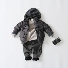 2016 Winter  New Baby Girls Coat&Outerwear Kids Down&Parkas Cartoon Sweet Kittens Hooded Thickened Cotton Children Clothing