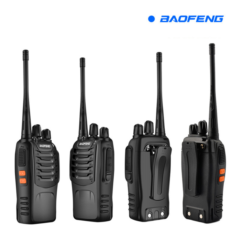 BF 888S 2 Baofeng Mini Walkie Talkie Wireless Civilian Waterproof Portable Self Driving Tour Hotel Tourie Security Walkie Talkie