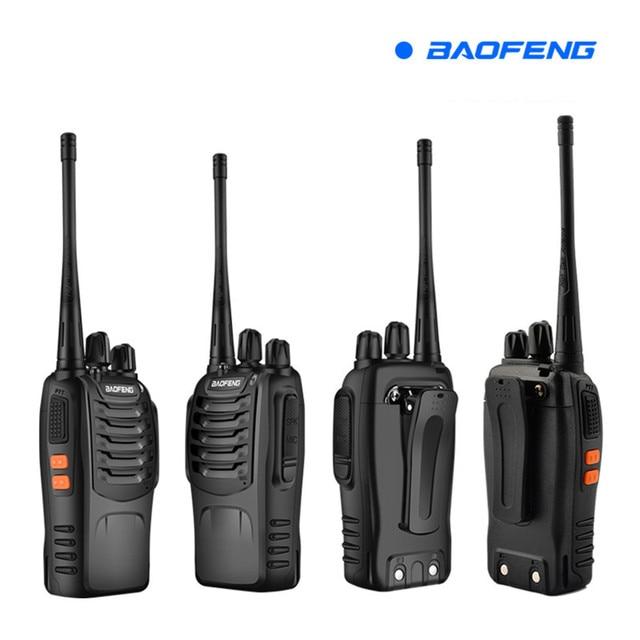 BF 888S 2 Baofeng Mini Walkie Talkie inalámbrico civil impermeable portátil auto conducción Tour Hotel Tourie seguridad walkie talkie