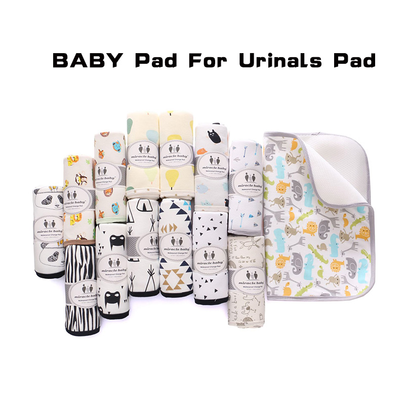 Baby Nappy Changing Pad Cotton Ecologic Diaper Changing Table Cartoon Baby Waterproof Mattress Bed Sheet Infant Change Mat Cover image
