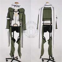 Anime espada arte Online Asada Shino uniformes de lucha contra Sinon Cosplay juegos completos C