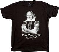 דוסט אתה אפילו להניף אדוני?   מצחיק הרמת משקל אימון שייקספיר Gymer החולצה מגניב מצחיק T Tees גברים באיכות גבוהה