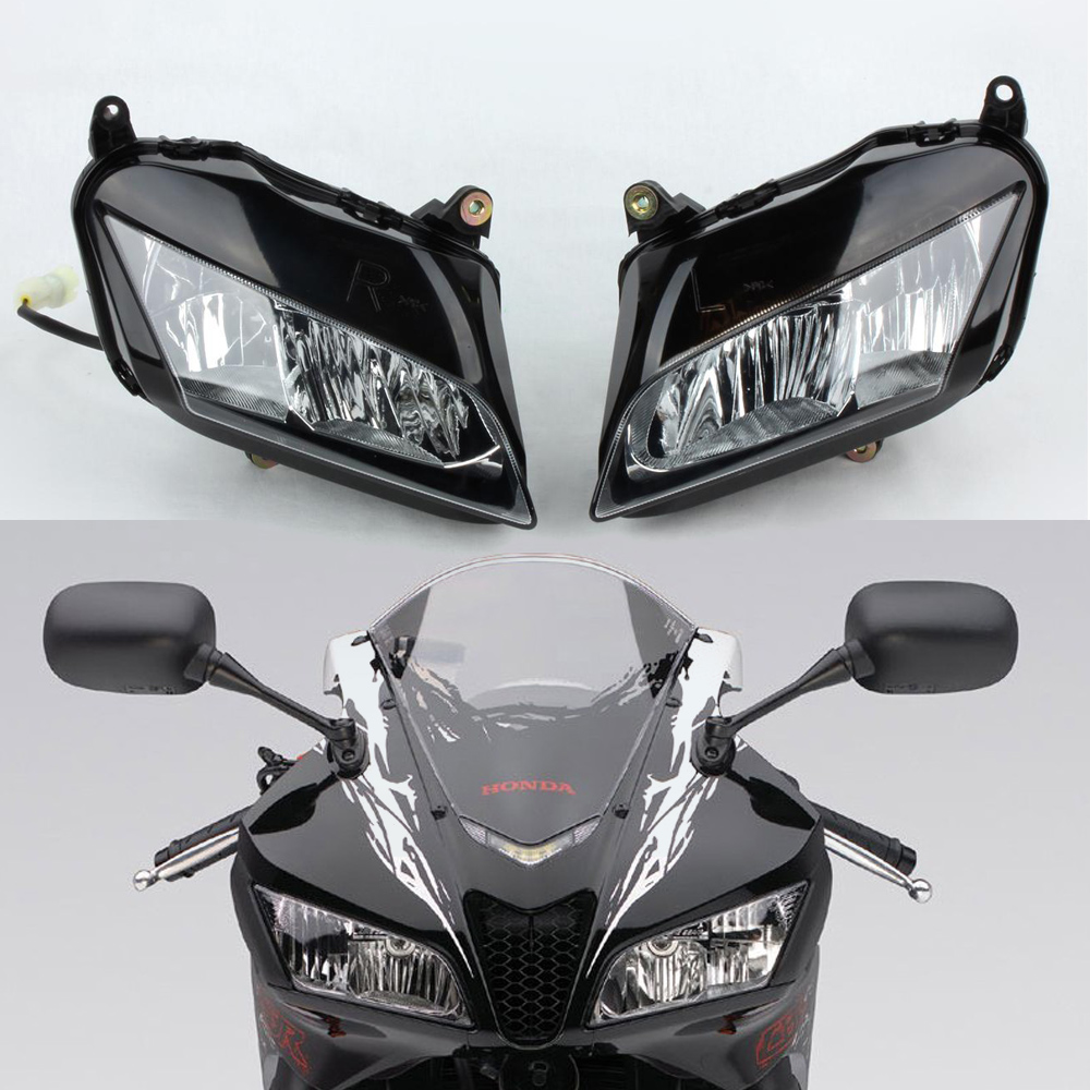 Clear Lens Head Light Front Lamp Headlight For HONDA CBR600RR CBR 600 RR 07 08 09 10 11 12 2007 2008 2009 2010 2011 2012 F5