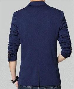 Image 5 - Covrlge 2018 Frühling Herbst Neue Männer Blazer Mode Slim Fit Männlichen Anzug Jacke Mantel Elegante Herren Kleid Kleidung Hochzeit Mantel MWX013