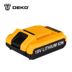 DEKO 18V Cordless Drill DC New Design Mobile Power Supply Lithium Battery