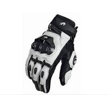Guante de cuero para carreras, guantes para motocicleta, guantes de carreras para bicicleta, conducción, ciclismo, moto, guantes de carreras de motos