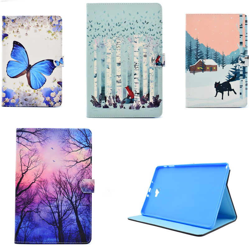 For Coque Samsung Galaxy Tab A A6 10.1 P580 P585 PU Leather Stand Case Wallet Card Holder Cover For P580N P585C P585Y Protector bear design pu leather flip cover wallet card holder case for samsung galaxy a5 2017