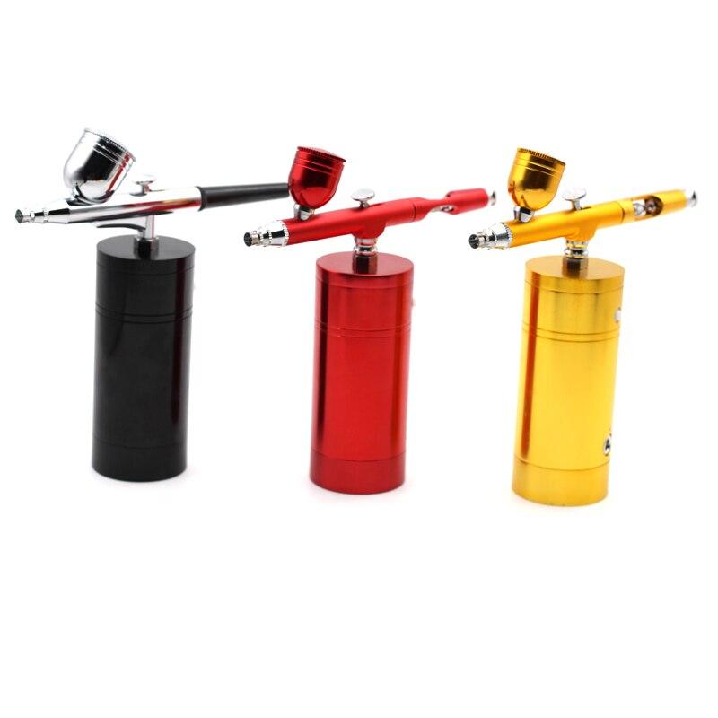 Mini Kit d'aérographe sans fil avec compresseur d'aérographe Rechargeable stylo de pulvérisation pour art des ongles peinture pour le visage gâteau de coloration