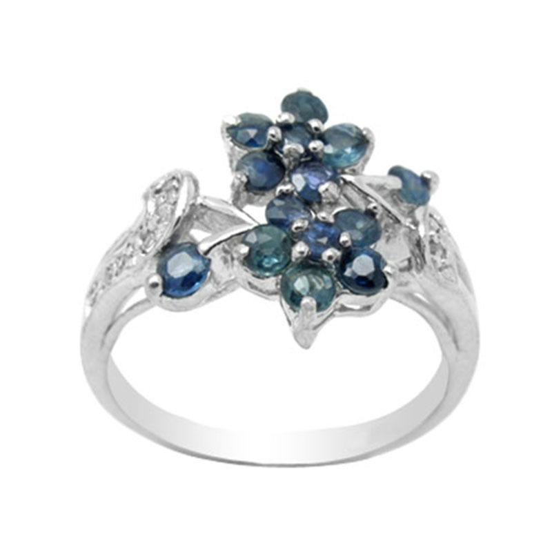 2017 Rings Qi Xuan_Dark Blue Stone Simple And Generous Flowers Ring_S925 Solid Silver Fashion Ring_Manufacturer Directly Sales 2017 Rings Qi Xuan_Dark Blue Stone Simple And Generous Flowers Ring_S925 Solid Silver Fashion Ring_Manufacturer Directly Sales