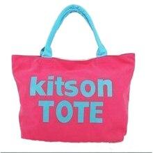 Frauen Shopper taschen Text muster Weichen Leinwand umhängetaschen Schule stil Casual shopper taschen