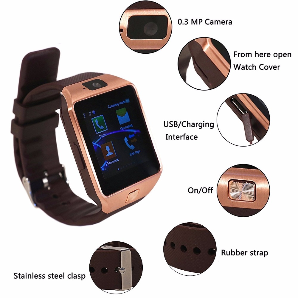 DZ09 Smart Wearable Devices with Camera relogio Bluetooth Smart Watches Support SIM TF Card Smartwatch For Ios Android Phones