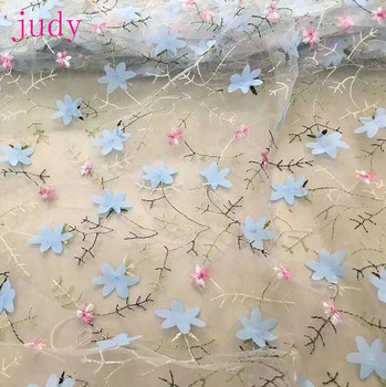 stock 5yards/bag  YuY010#  2 color simple Chinese style 3D embroidered cloth used in the wedding dress fashion stage