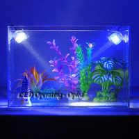 Крытый подводная светодиодная лампа, Водонепроницаемый СИД аквариумный светильник для коралловых рифов рыб танк, погружной аквариумный То...