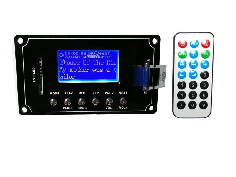 DC9V-12V MP3/WAV/WMA/FLAC Texte Display Aufnahme Bluetooth Audio Decoder Board