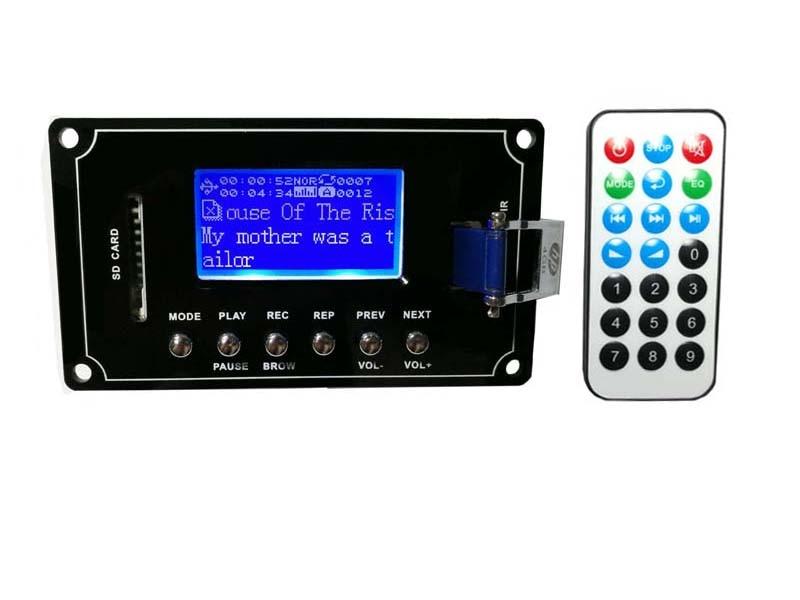 DC9V-12V MP3/WAV/WMA/FLAC Lyrics Display Recording Bluetooth Audio Decoder Board