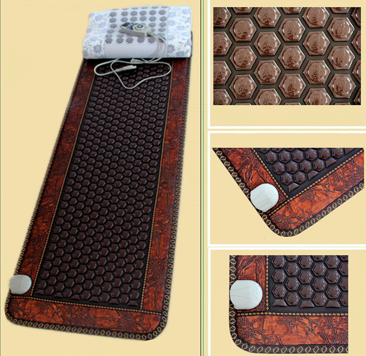 2015 most hot sales heated mat massage germanite stone cushion Jade NEW heating massage cushion 50cmX150cm 2017 new heating massage mat heated jade stones cushion tourmaline health products heating sleeping mat size 100 50cm