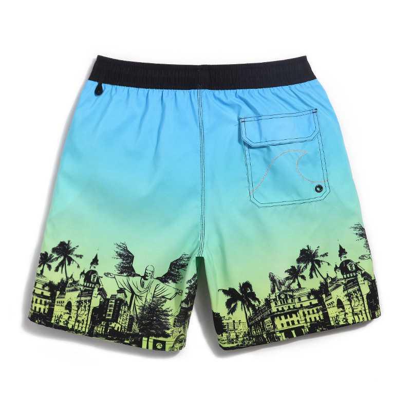 56c8d287cf6 GL Brand Plus Size Summer Men Beach Shorts Linen Print Water Sportswear  Surfing Mens Quick Dry Sea Holiday Man Swim Shorts