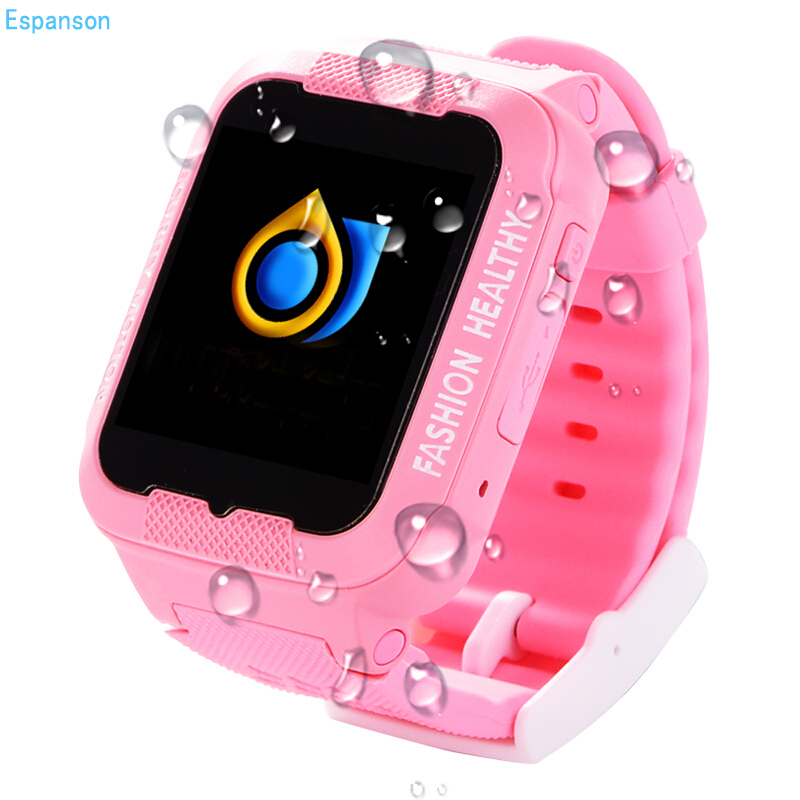 Espanson Children GPS Smart Watch With Camera Emergency Security Anti Lost SOS For ISO iphone Android waterproof baby Watch K3 espanson gps tracker children security anti lost smart watch with camera kid sos emergency for ios android waterproof baby watch