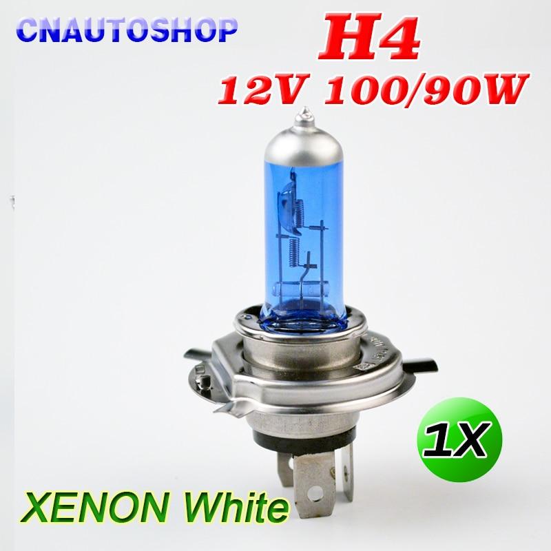 H4 12V 100/90W Halogen Lamp Super White Dark Blue Xenon Bright Glass Stainless Steel Base Car Bulb napapijri guji check dark blue