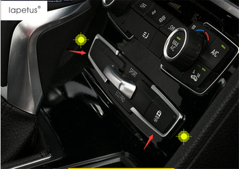 Lapetus Accessories For BMW 2 Series Gran Active Tourer F45 F46 2015 - 2019 Central Control Button Switch Molding Cover Kit Trim image