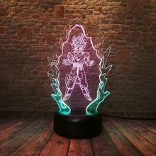 Goku Super Saiyan LED Color Change Lamp