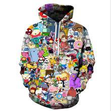 Anime Hoodies Men/Women 3D Sweatshirts With Hat Hoody Unisex