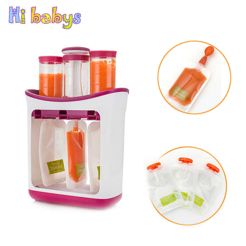 Baby Food Maker Baby Feeding Containers Storage Supplies Newborn Toddler Solid Food pouche Fresh Squeezed Fruit Juice Station
